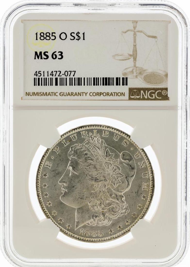 1885-O NGC MS63 Morgan Silver Dollar - 2