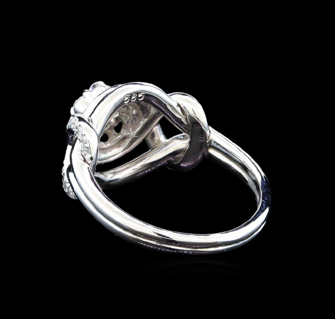 0.56 ctw Diamond Ring - 14KT White Gold - 3