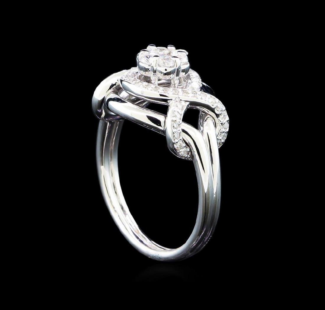 0.56 ctw Diamond Ring - 14KT White Gold - 4