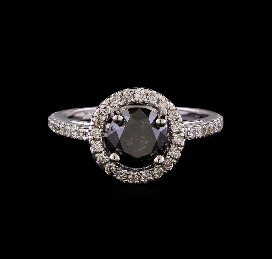 2.60 ctw Black Diamond Ring - 14KT White Gold - 2