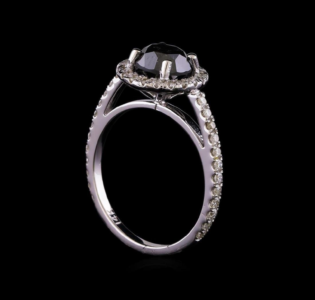 2.60 ctw Black Diamond Ring - 14KT White Gold - 4
