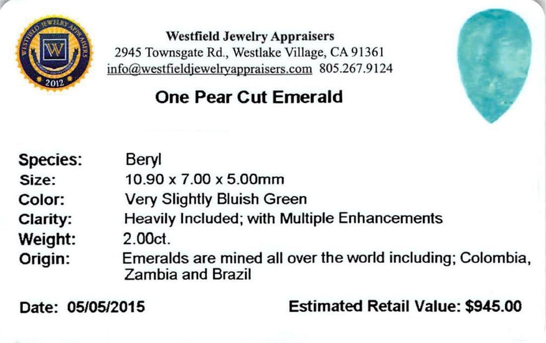 2 ctw Pear Emerald Parcel - 2