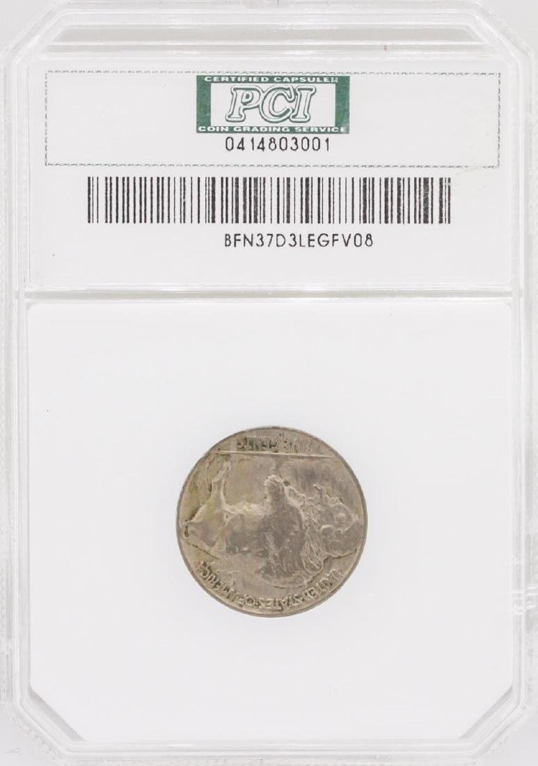 1937-D Nickel VF35 3-Legged Buffalo Coin - 2