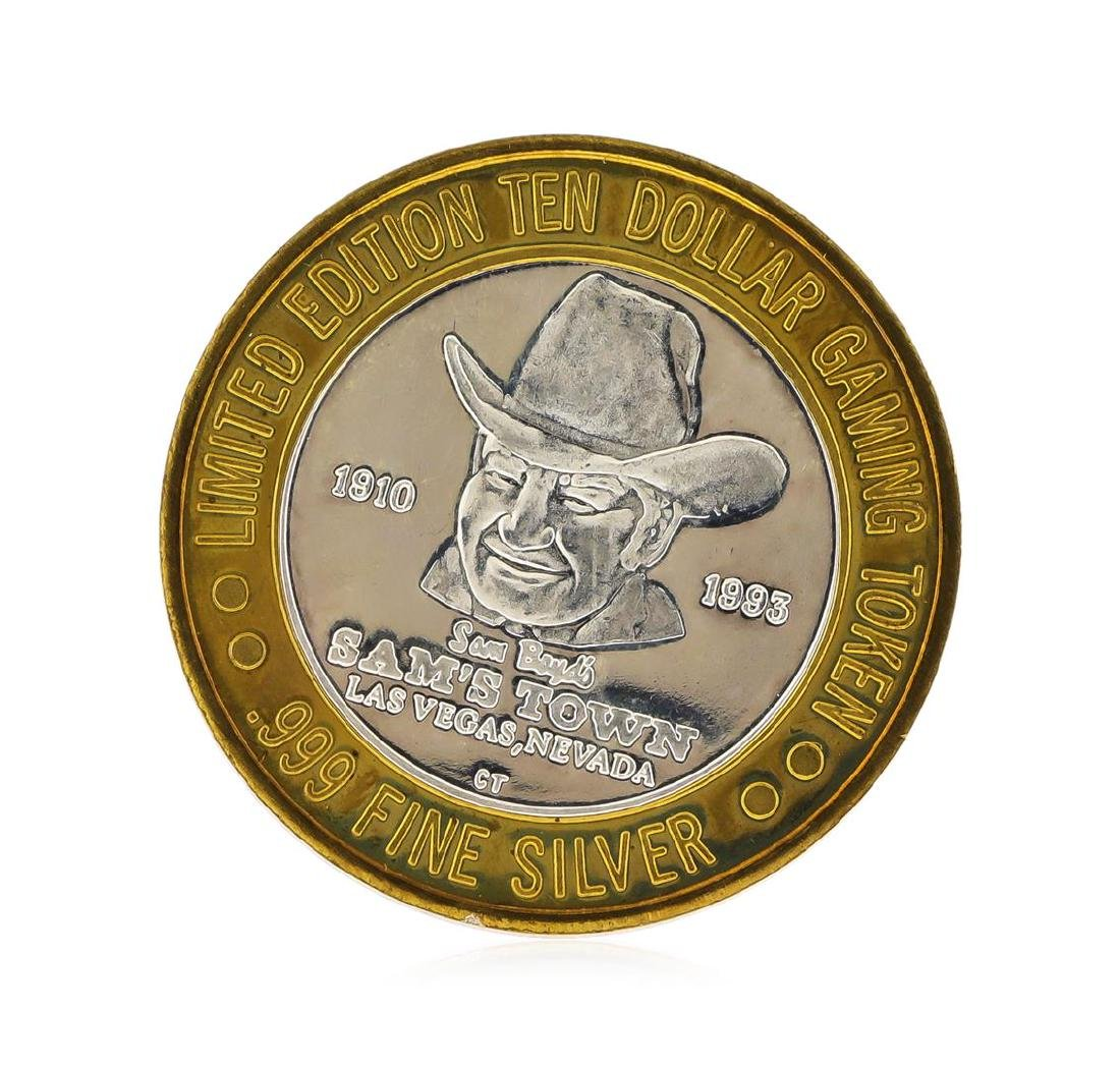 Limited Edition $10 Las Vegas .999 Silver Gaming Token - 2