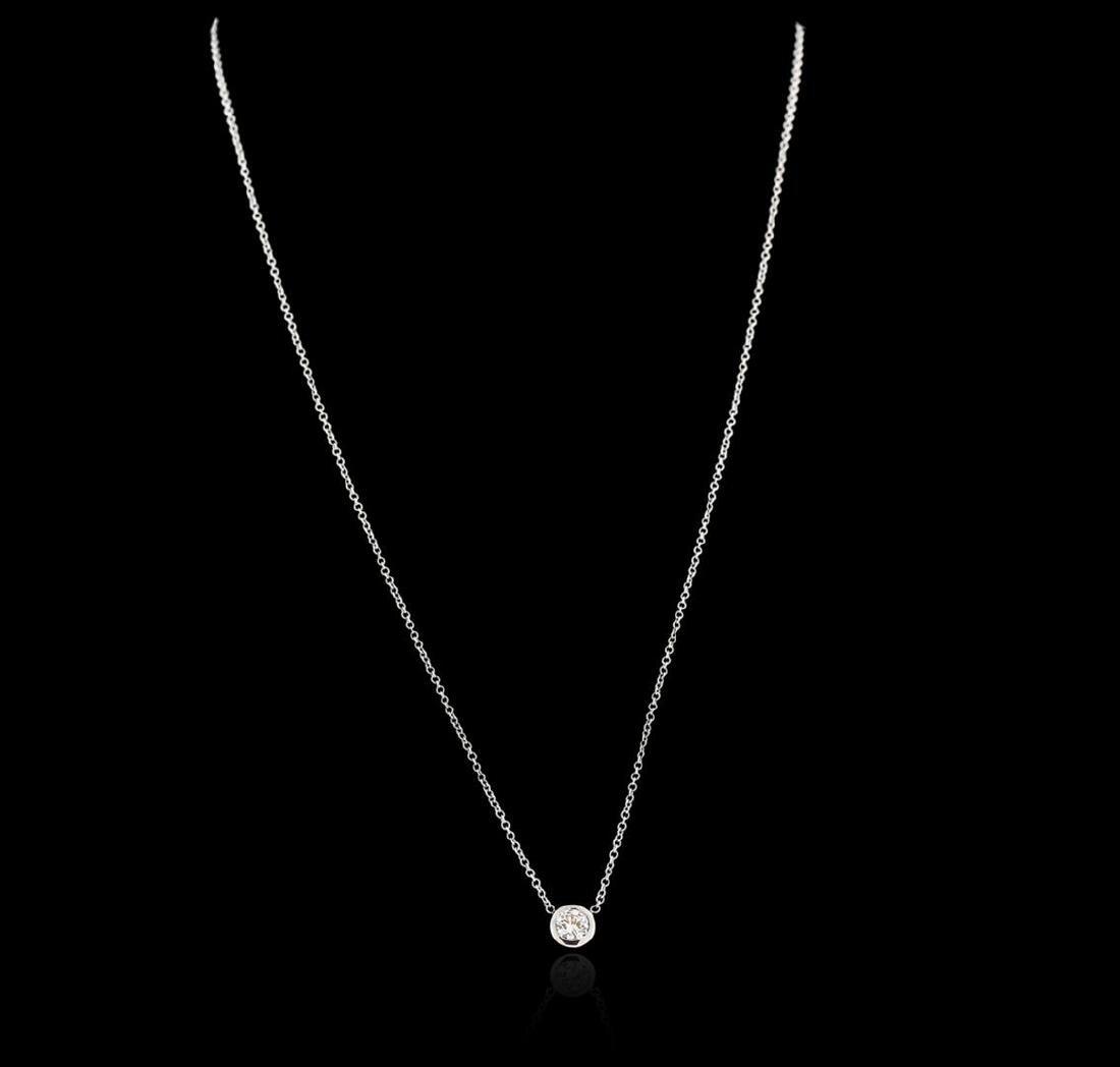 14KT White Gold 0.35 ctw Diamond Necklace - 2