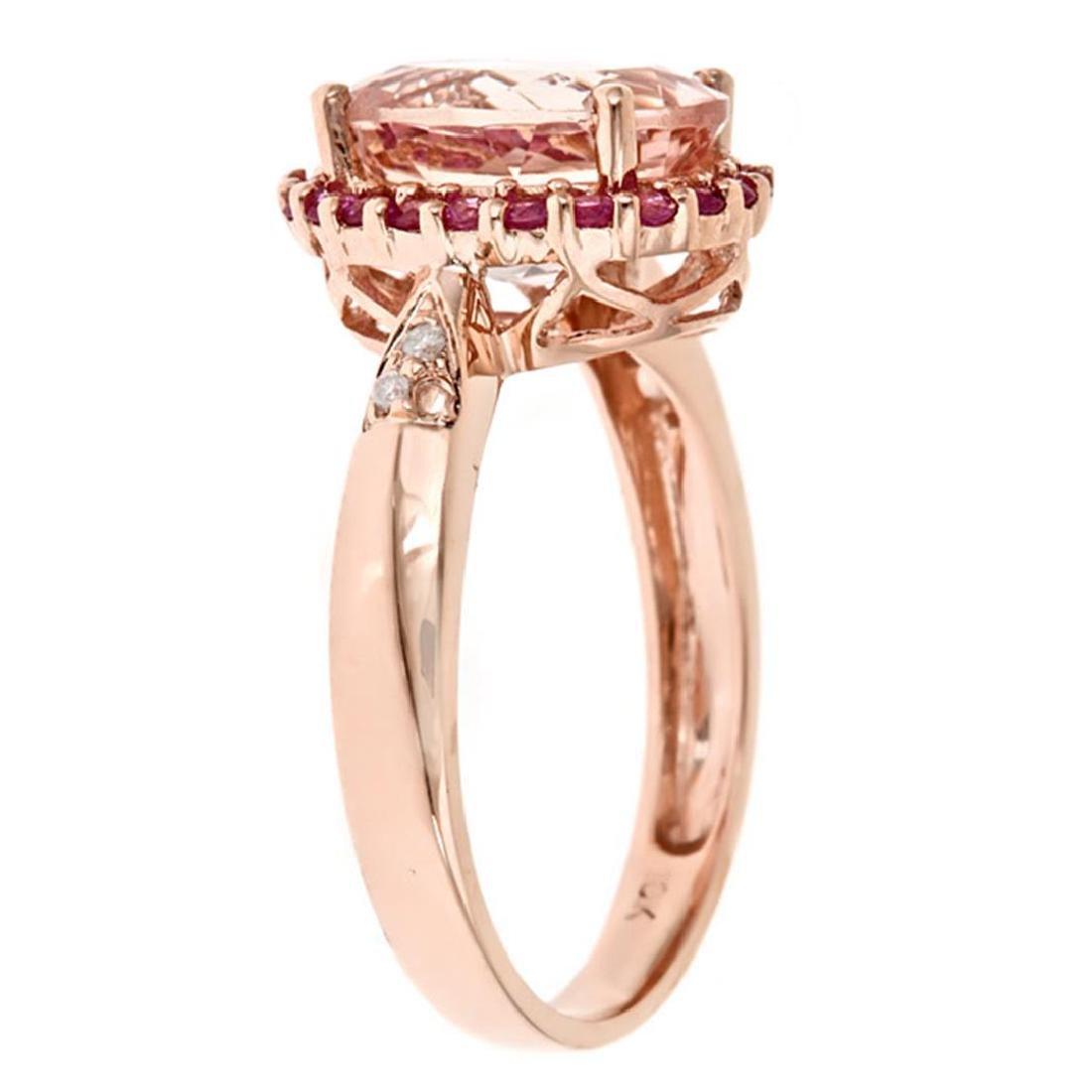 2.35 ctw Morganite, Pink Sapphire and Diamond Ring - - 2