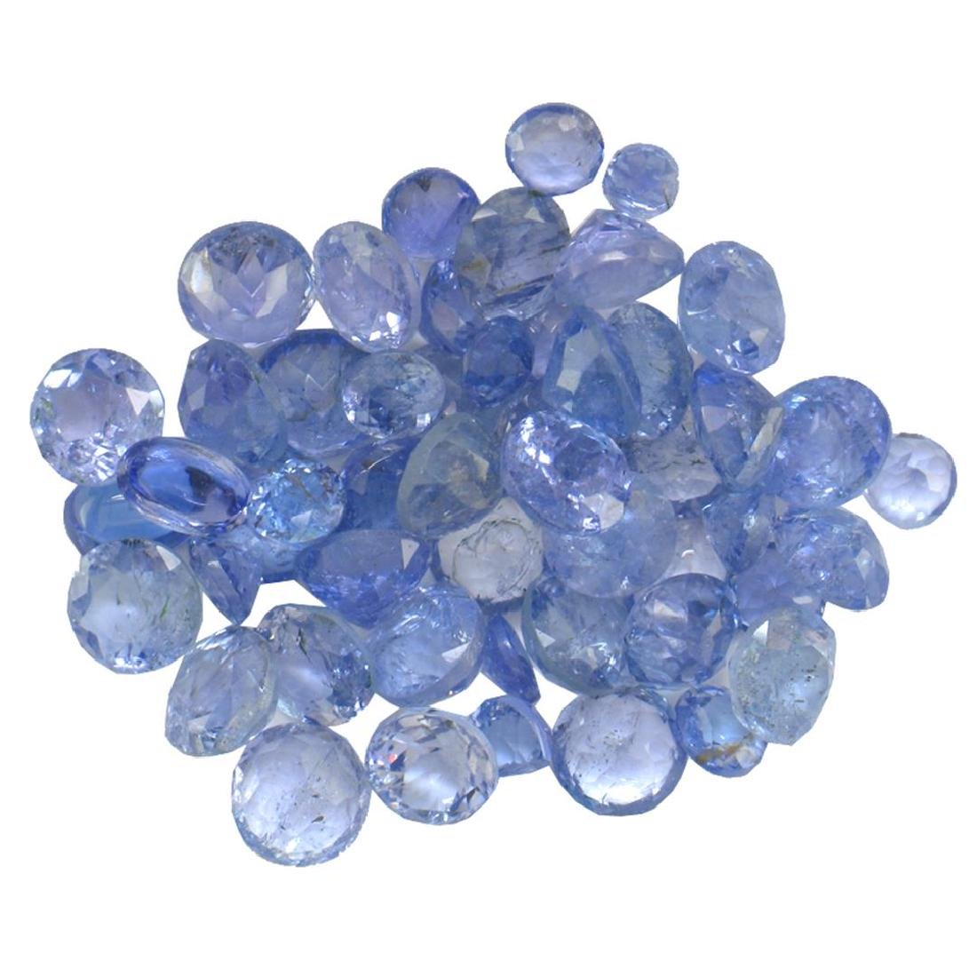 12.33 ctw Round Mixed Tanzanite Parcel