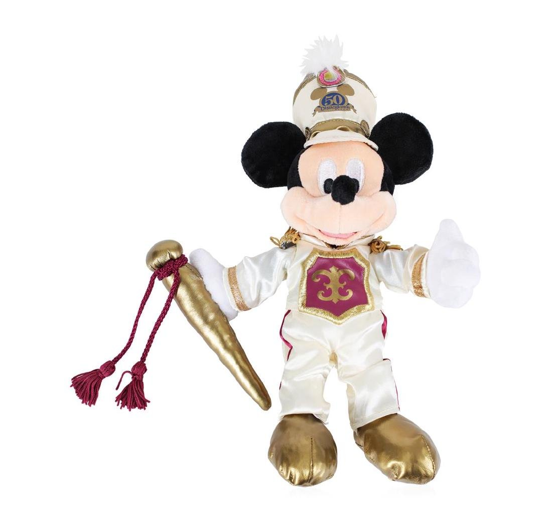 "Mickey Mouse 12"" Plush - 50 Years Disneyland ""Happiest"