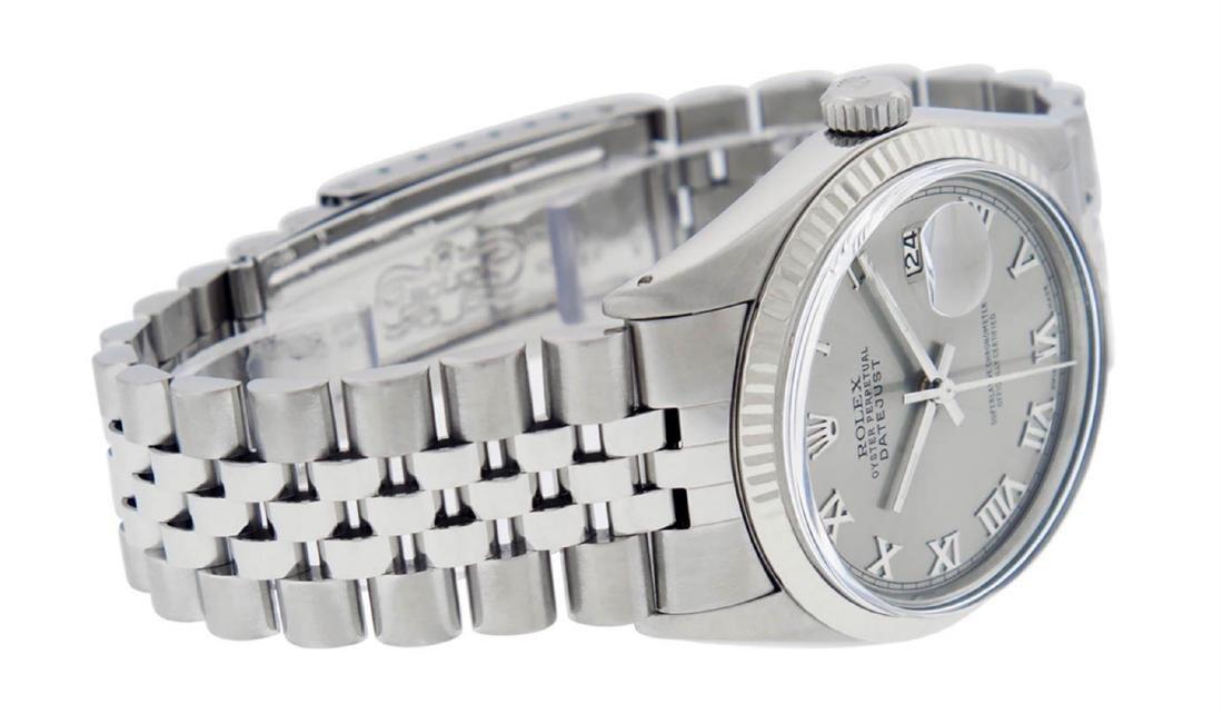 Rolex Mens Stainless Steel 36MM Slate Grey Roman - 4