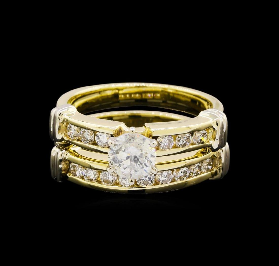 1.47 ctw Diamond Ring - 14KT Yellow and White Gold - 2