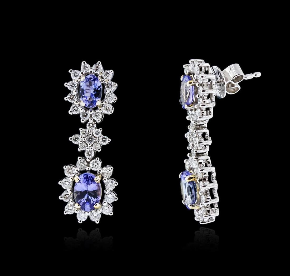 14KT Two-Tone Gold 1.76 ctw Tanzanite and Diamond - 2