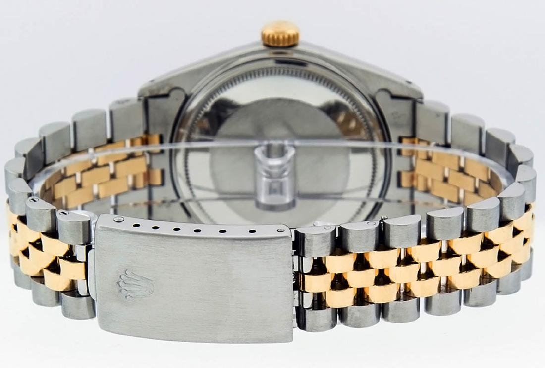 Rolex Mens 2 Tone 14K Black Diamond 36MM Datejust - 4