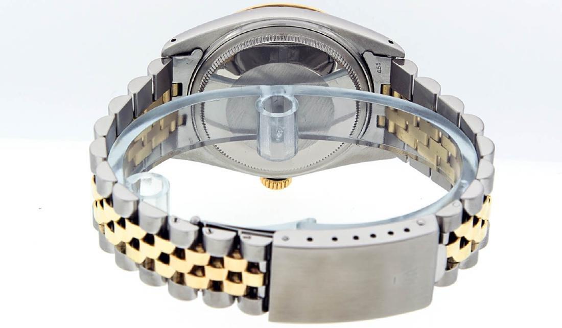 Rolex Mens 2 Tone 14K Black Diamond 36MM Datejust - 5