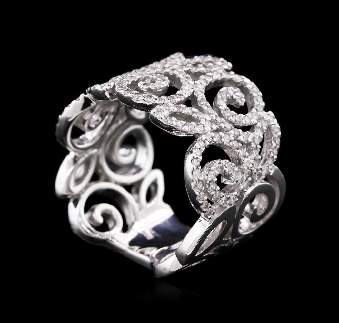 0.85 ctw Diamond Ring - 14KT White Gold - 2