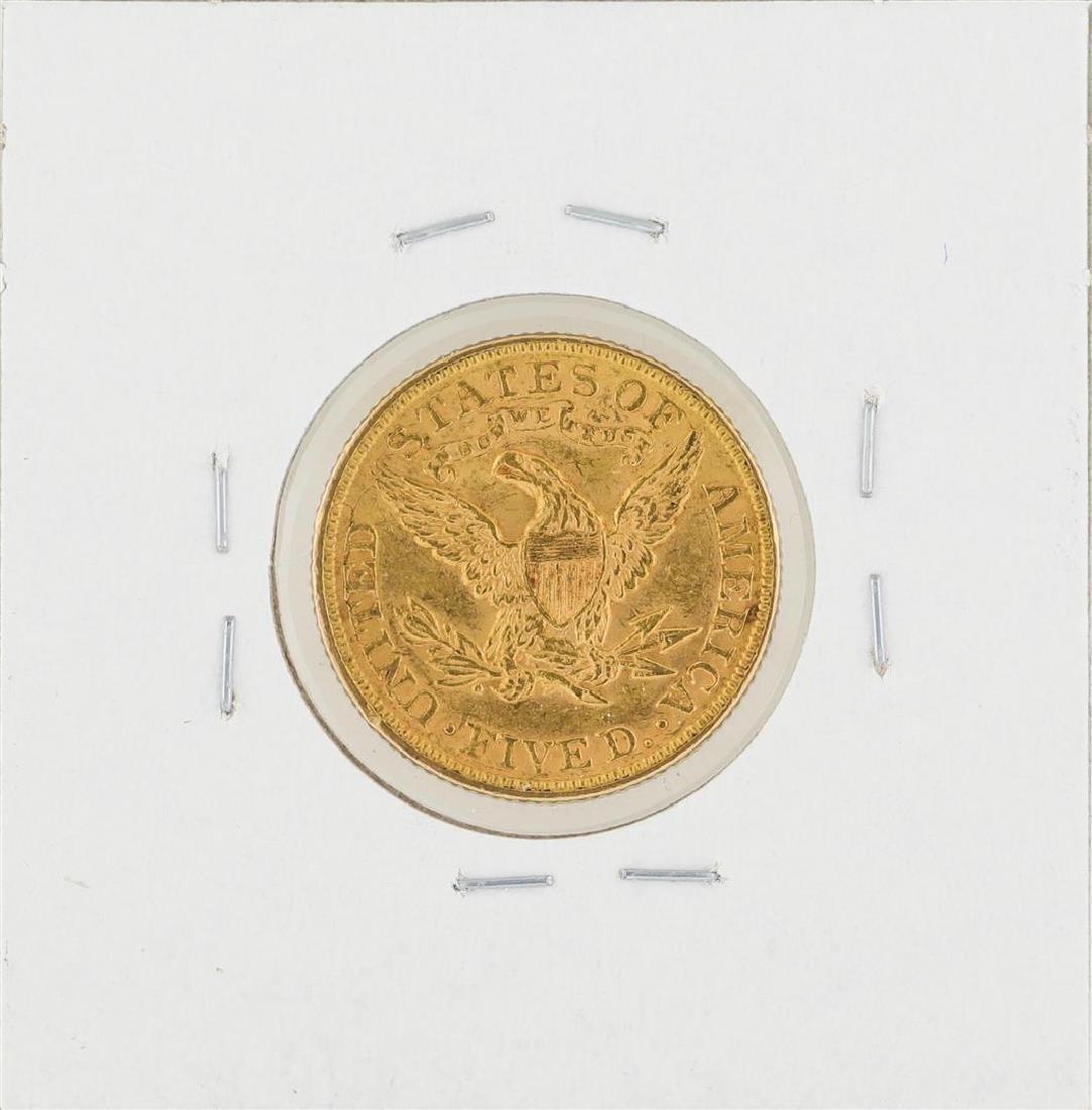 1898 $5 Liberty Head Half Eagle Gold Coin - 2