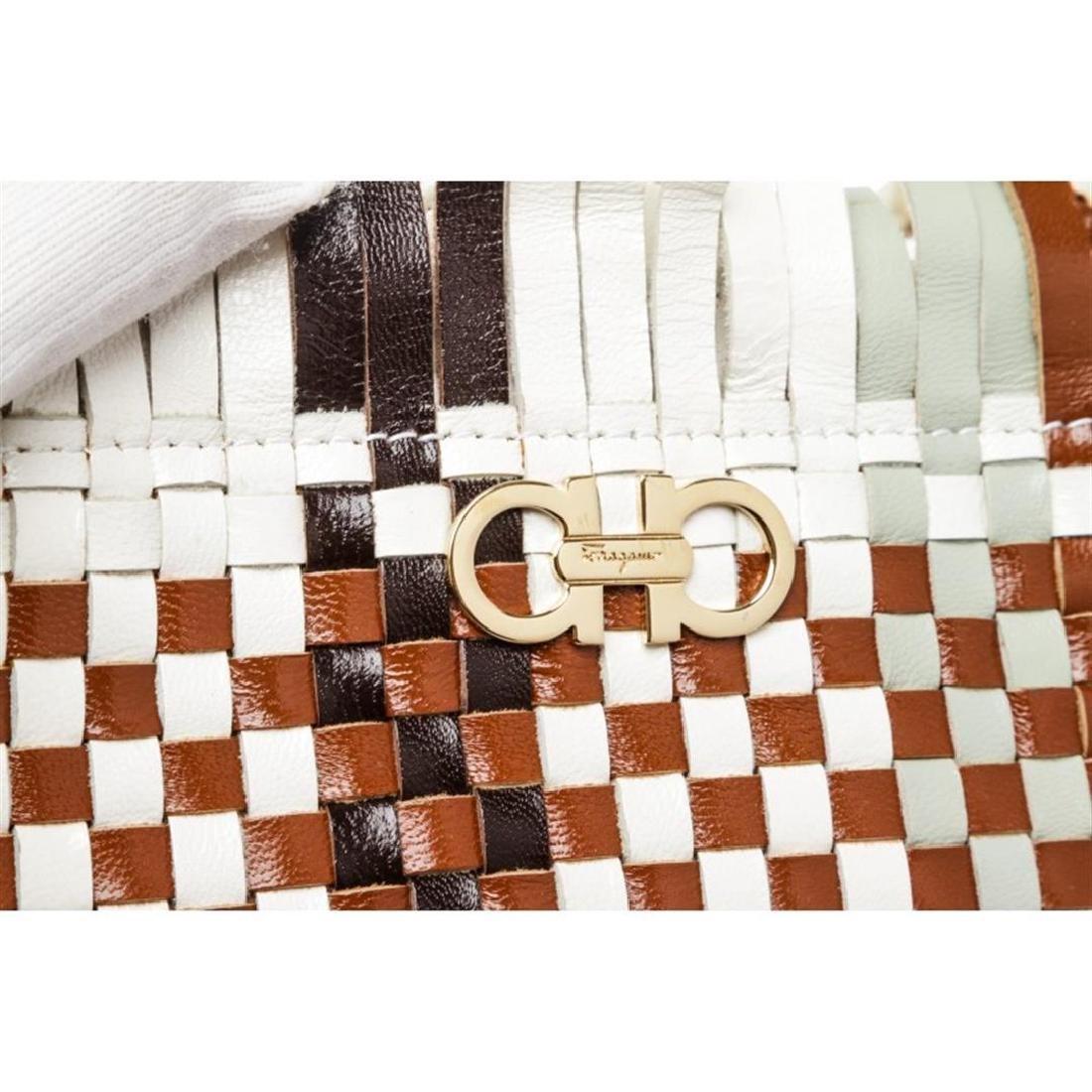 Salvatore Ferragamo Brown Multicolor Woven Leather - 5