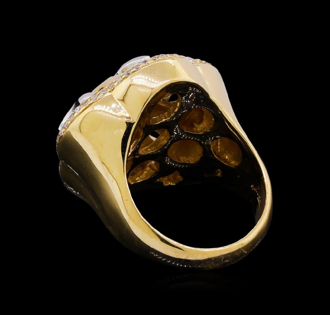 14KT Yellow Gold 0.50 ctw Diamond Ring - 3
