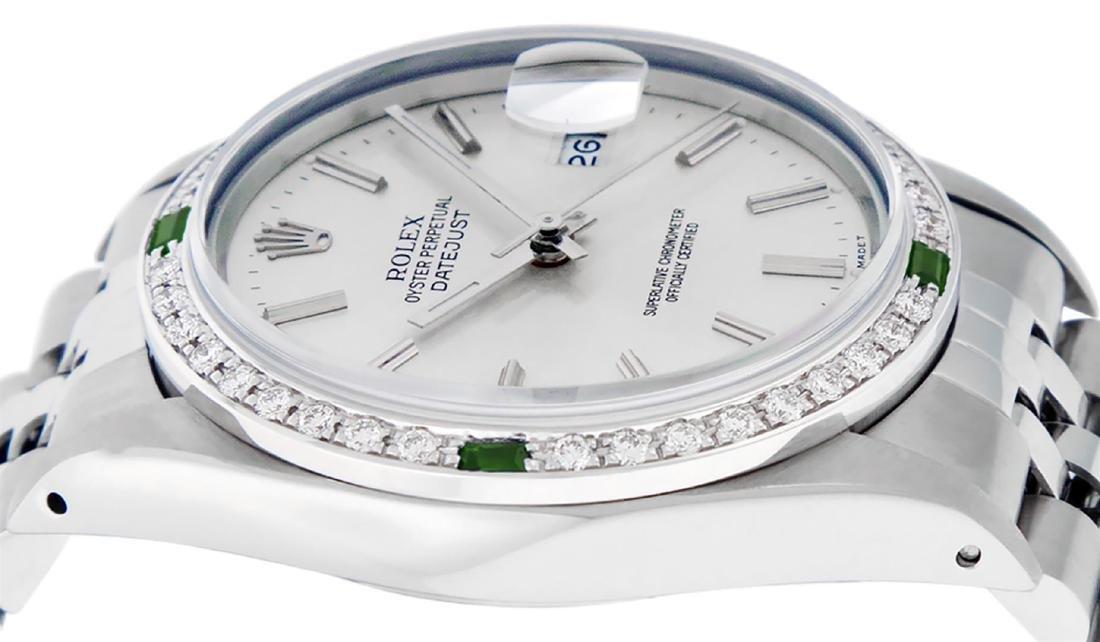 Rolex Mens Stainless Steel Silver Index Diamond 36MM - 4