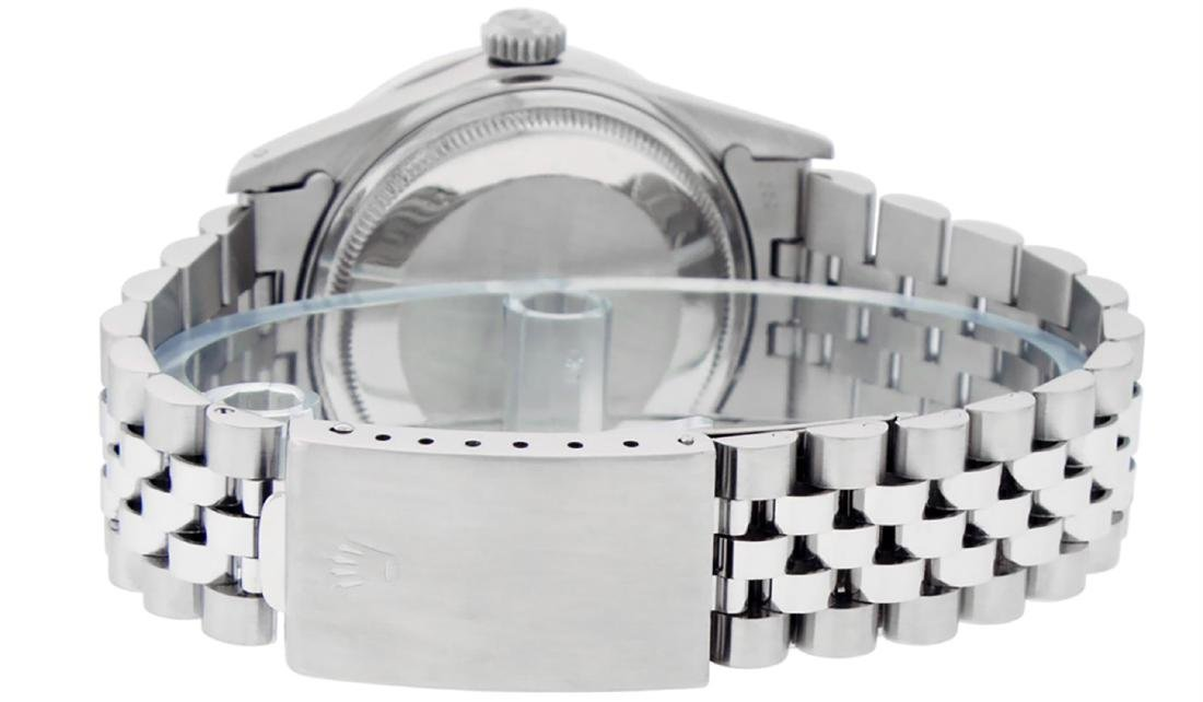 Rolex Mens Stainless Steel Silver Index Diamond 36MM - 6