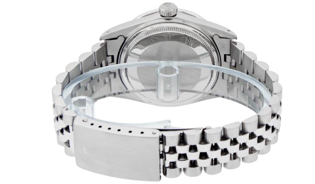 Rolex Mens Stainless Steel Silver Index Diamond 36MM - 7
