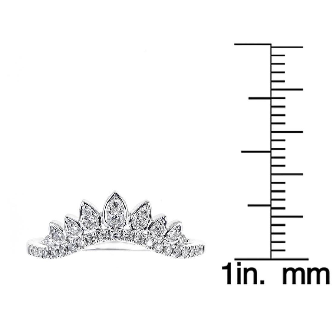 0.26 ctw Diamond Ring - 18KT White Gold - 3