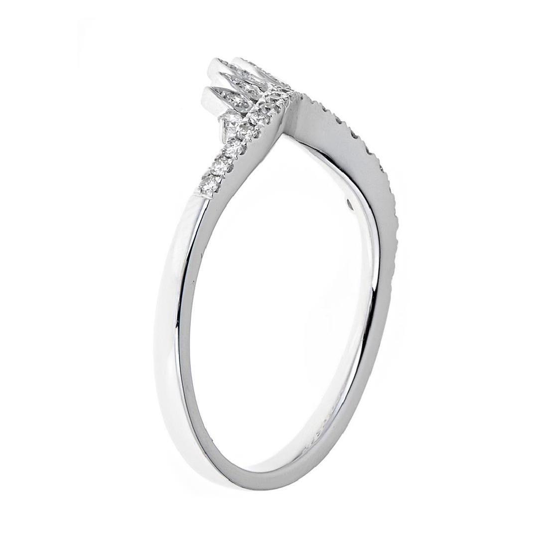 0.26 ctw Diamond Ring - 18KT White Gold - 4