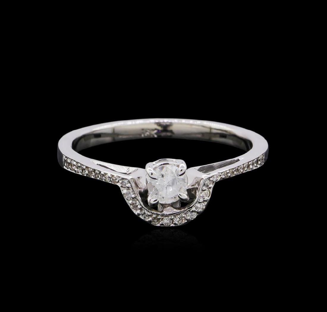 0.46 ctw Diamond Ring - 18KT White Gold - 2