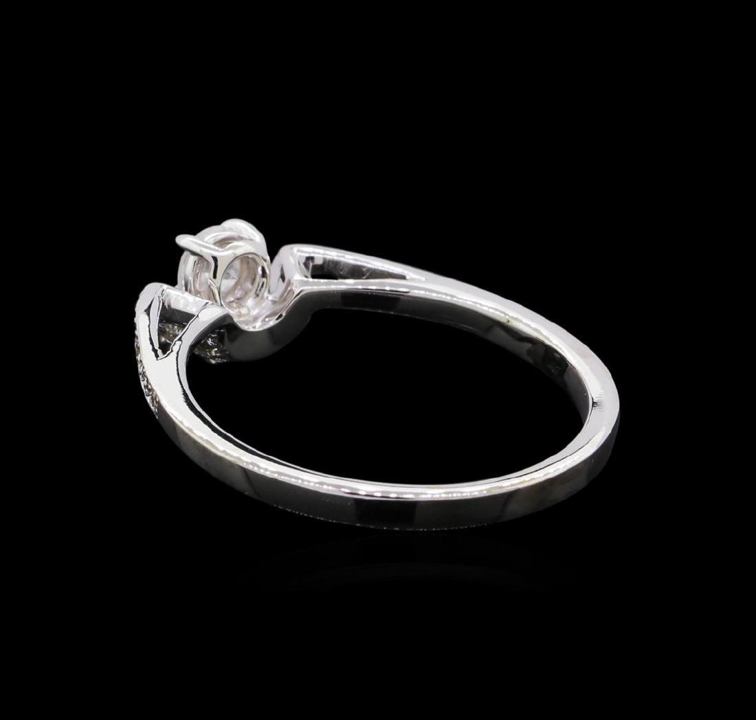 0.46 ctw Diamond Ring - 18KT White Gold - 3
