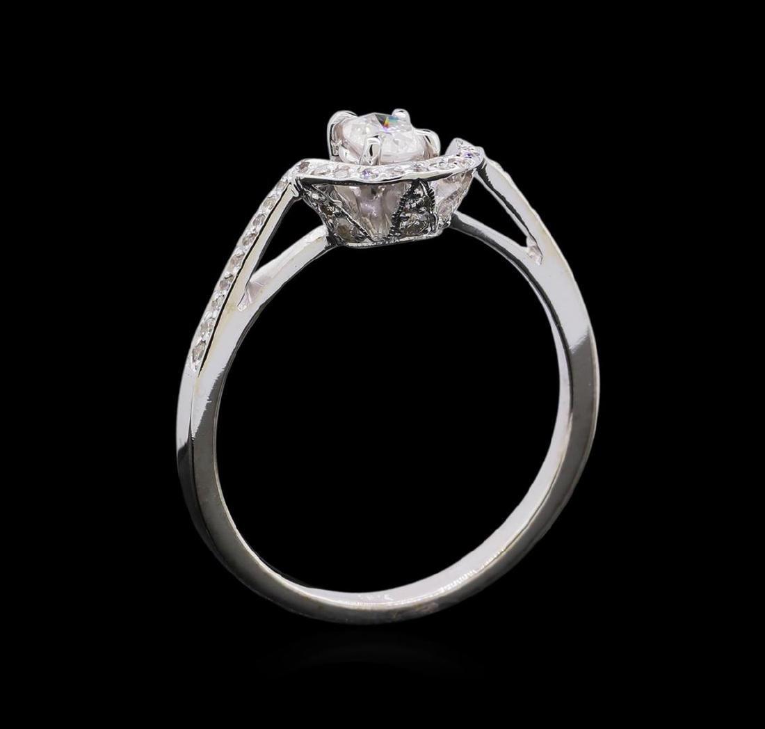 0.46 ctw Diamond Ring - 18KT White Gold - 4
