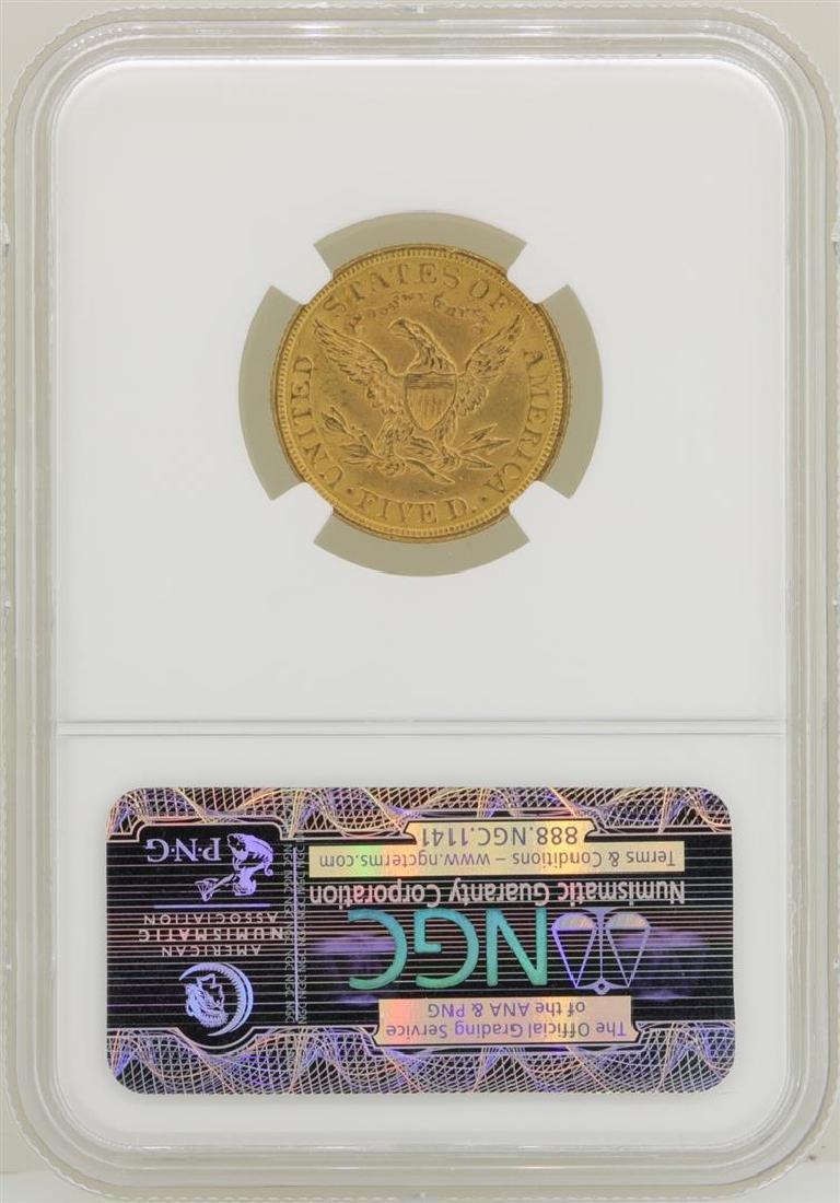 1900 $5 Liberty Head Half Eagle Gold Coin NGC MS62 - 2