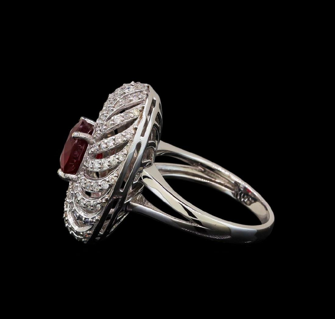 14KT White Gold 2.47 ctw Ruby and Diamond Ring - 3