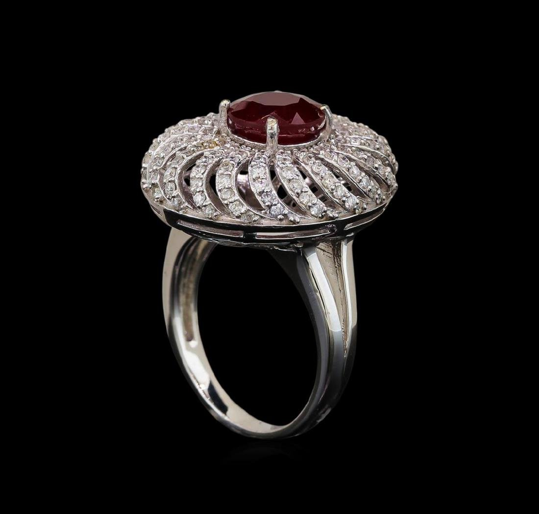 14KT White Gold 2.47 ctw Ruby and Diamond Ring - 4