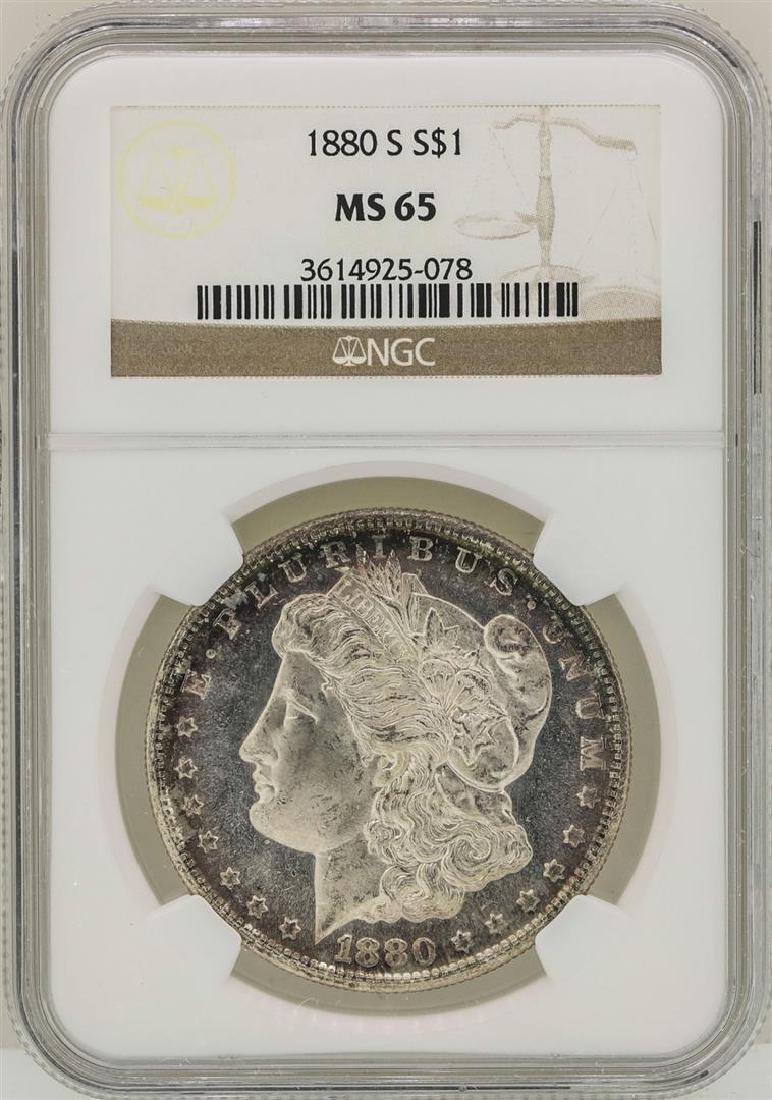 1880-S $1 Morgan Silver Dollar Coin NGC MS65