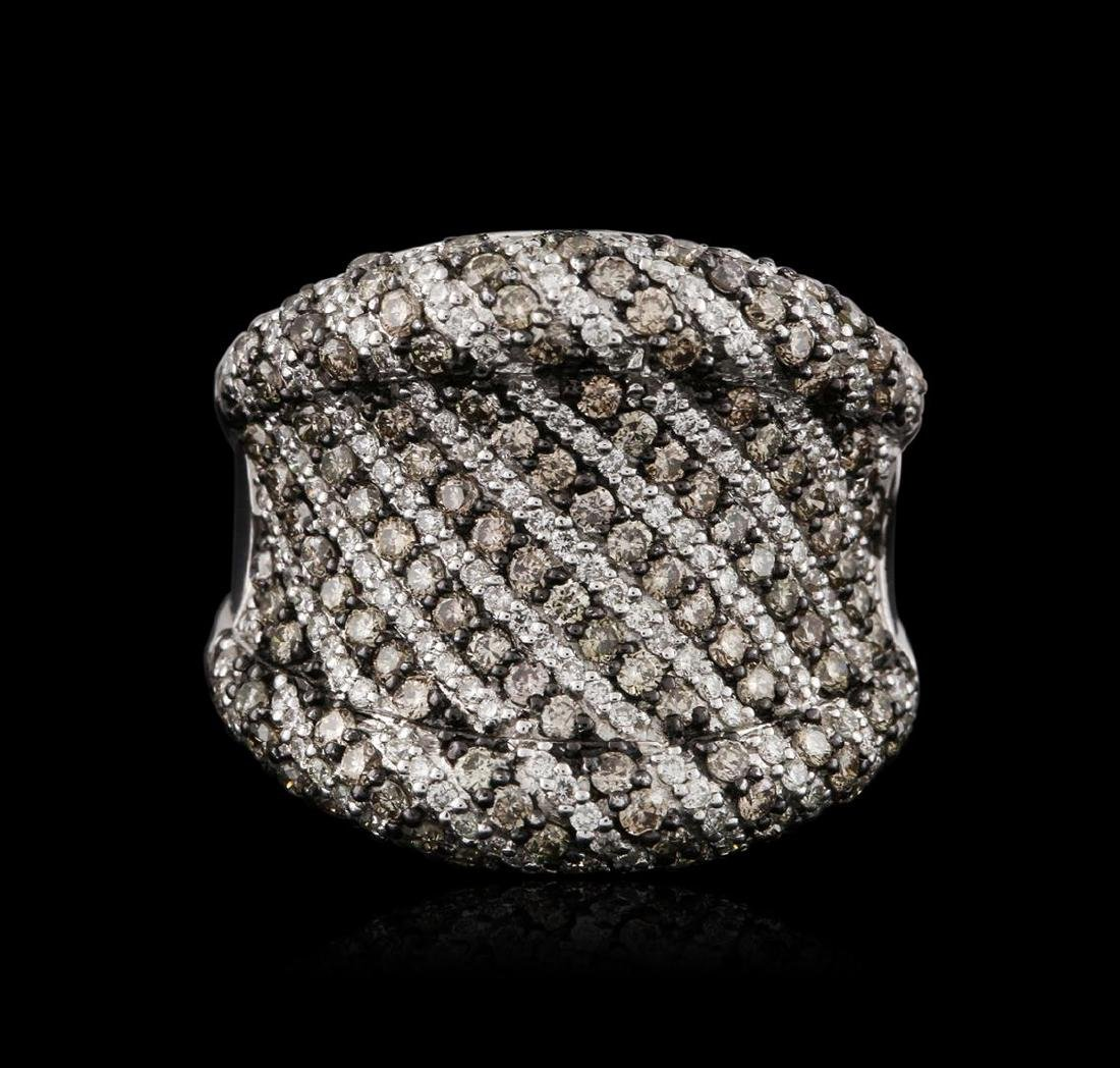 18KT White Gold 1.92 ctw Brown Diamond Ring - 2