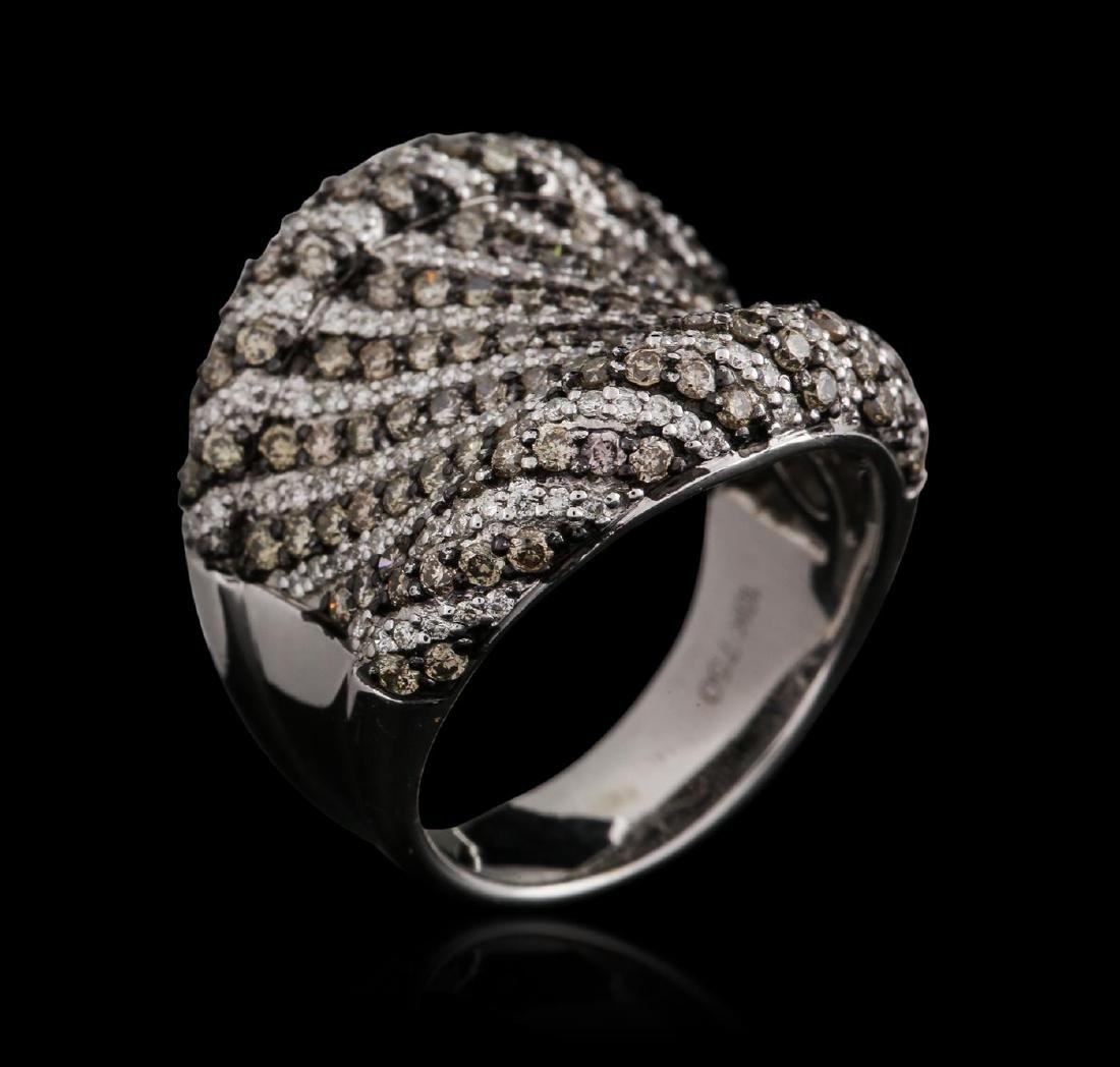 18KT White Gold 1.92 ctw Brown Diamond Ring - 3