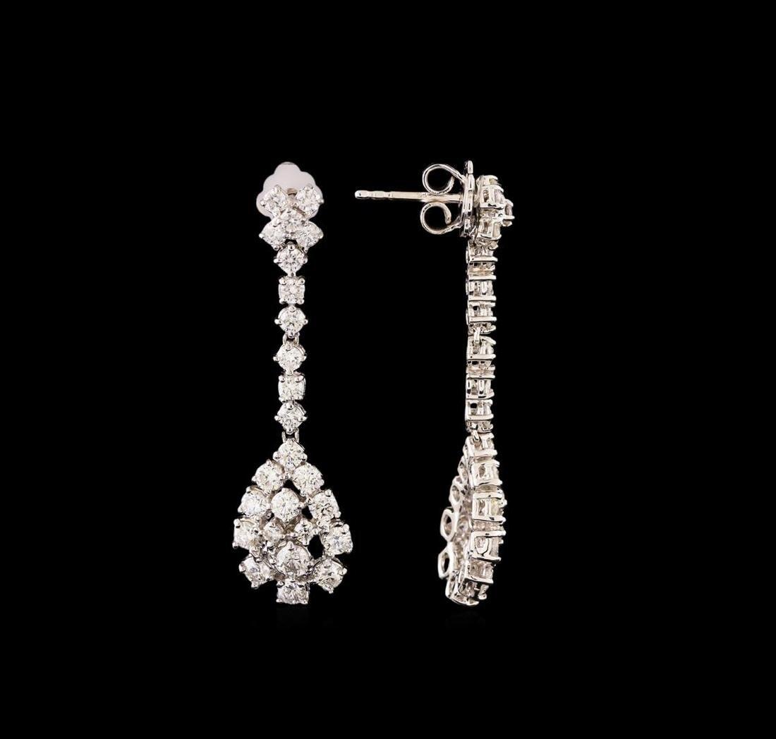 14KT White Gold 2.61 ctw Diamond Earrings - 2