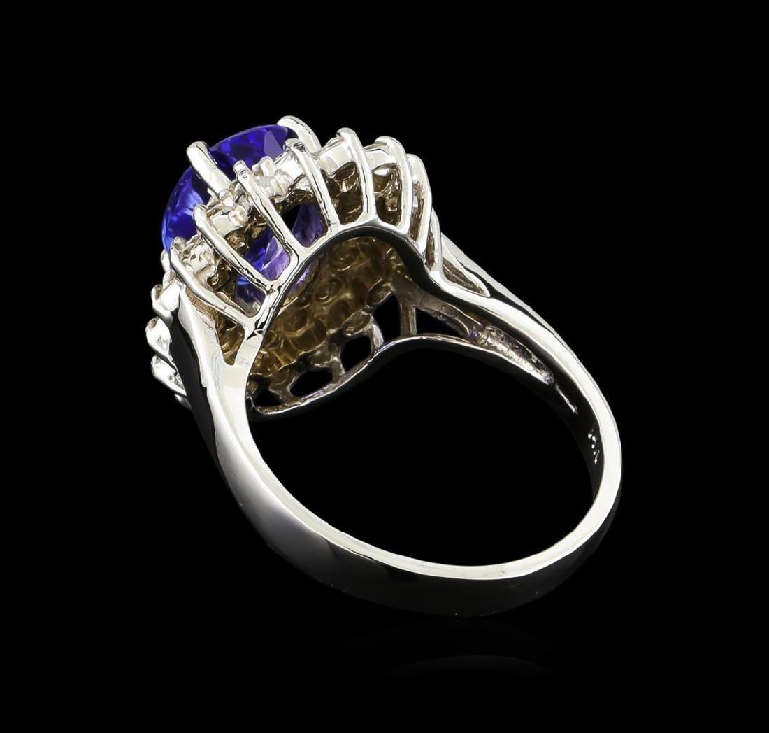 2.13 ctw Tanzanite and Diamond Ring - 14KT White Gold - 3