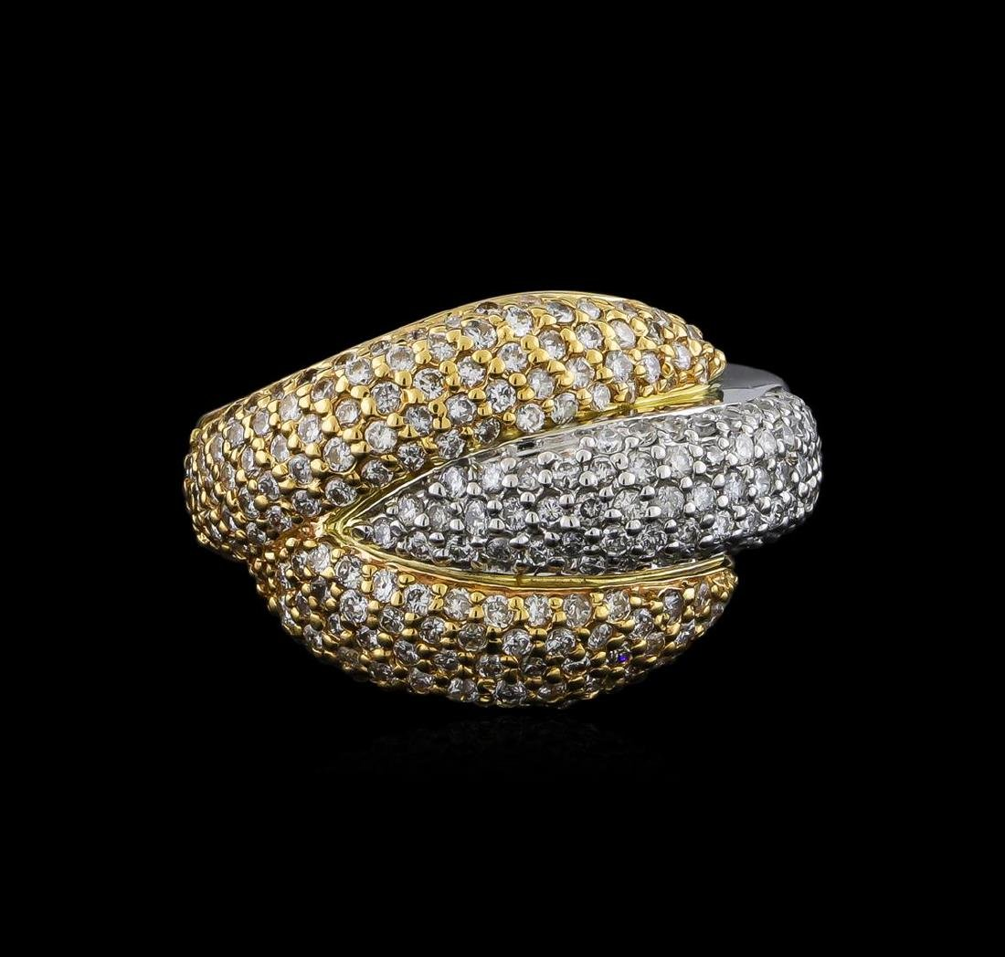 1.30 ctw Diamond Ring - 14KT White and Yellow Gold - 2