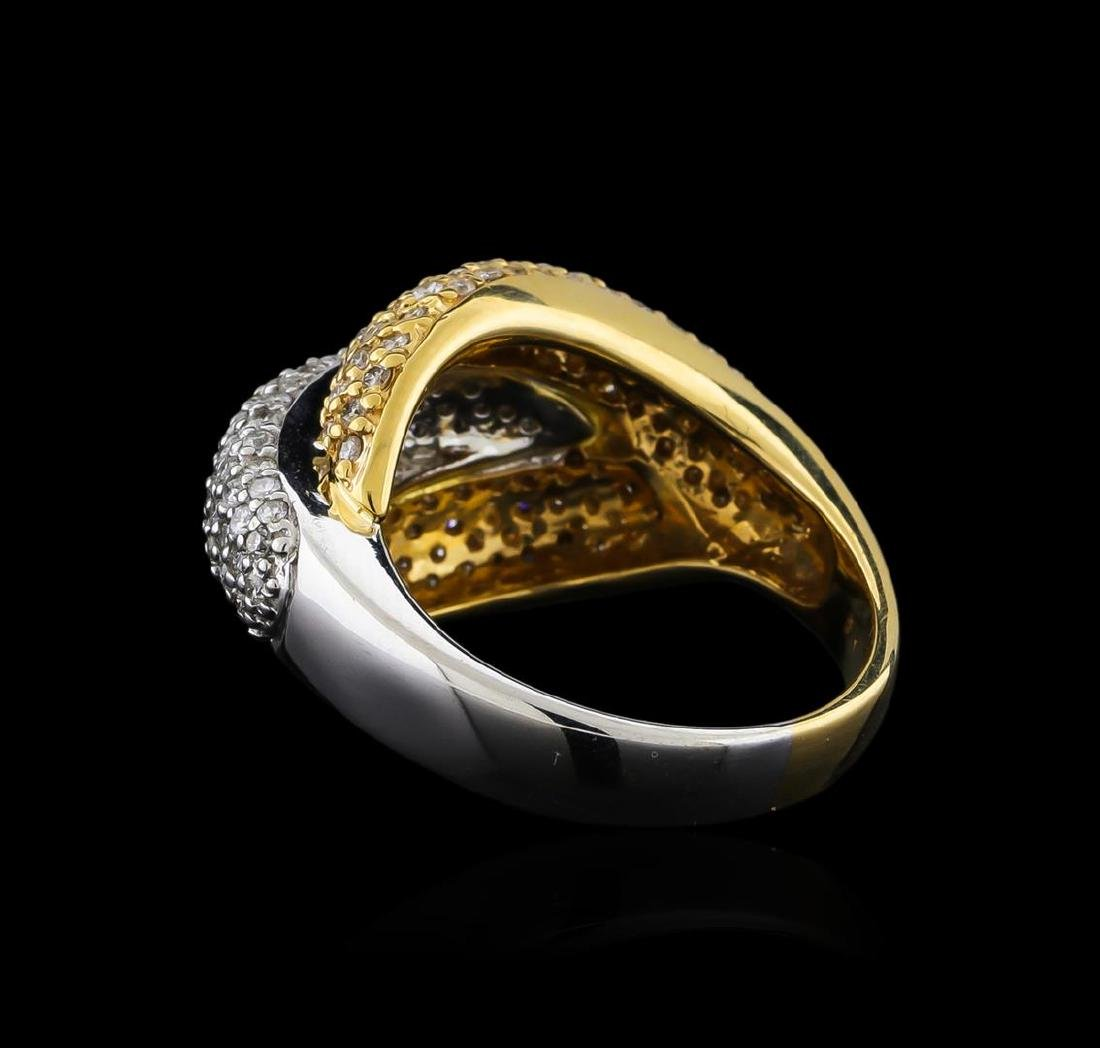 1.30 ctw Diamond Ring - 14KT White and Yellow Gold - 3