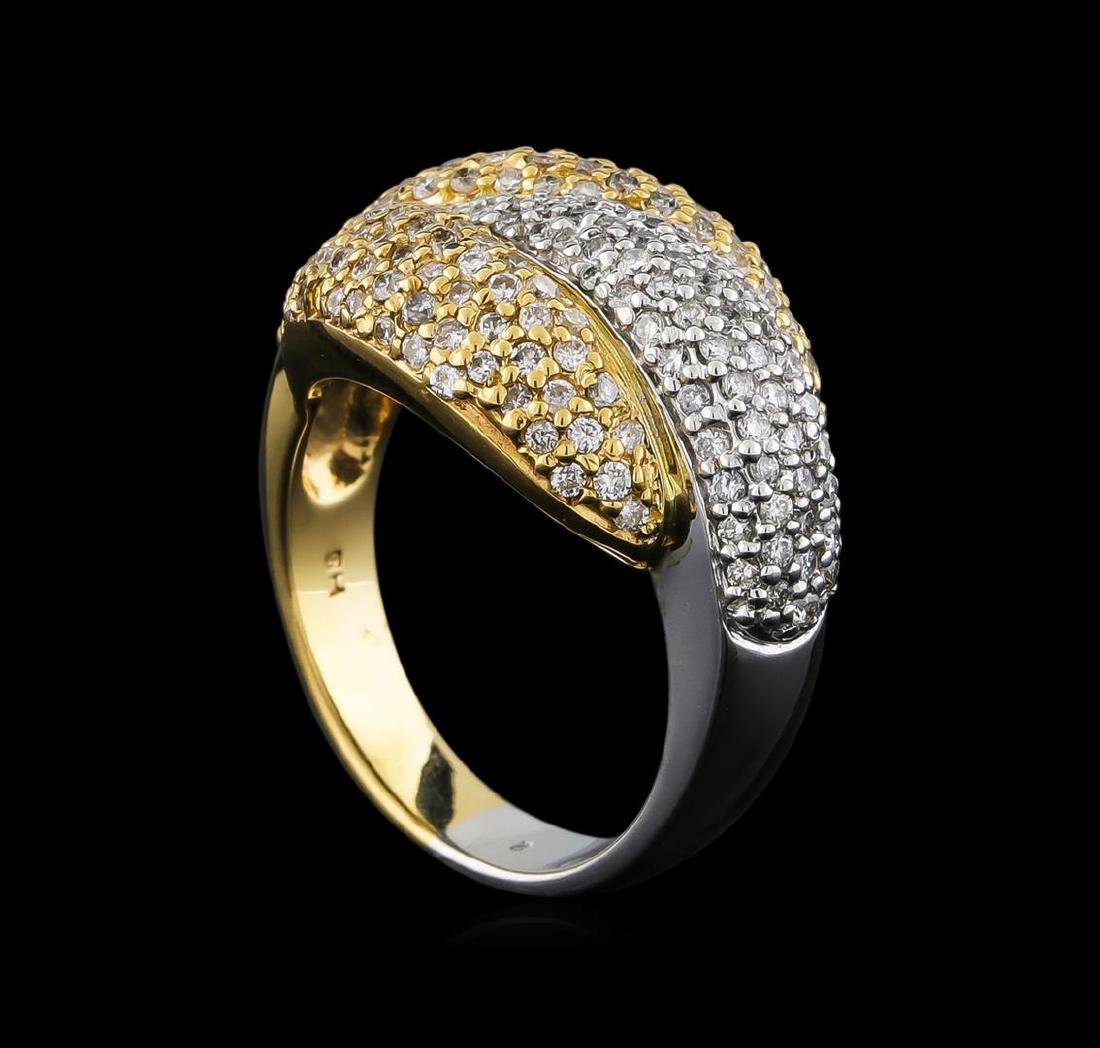 1.30 ctw Diamond Ring - 14KT White and Yellow Gold - 4
