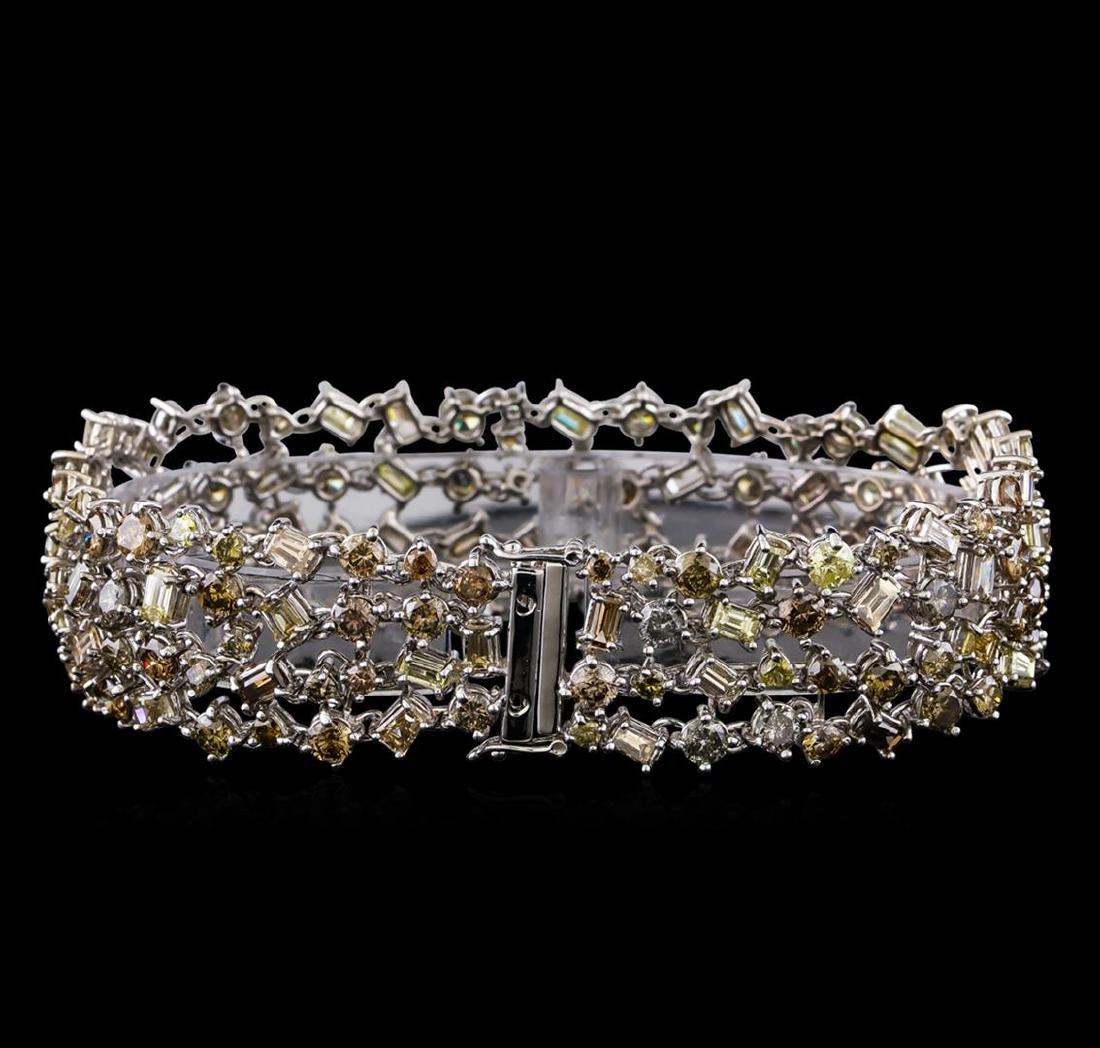 20.40 ctw Diamond Bracelet - 18KT White Gold - 2
