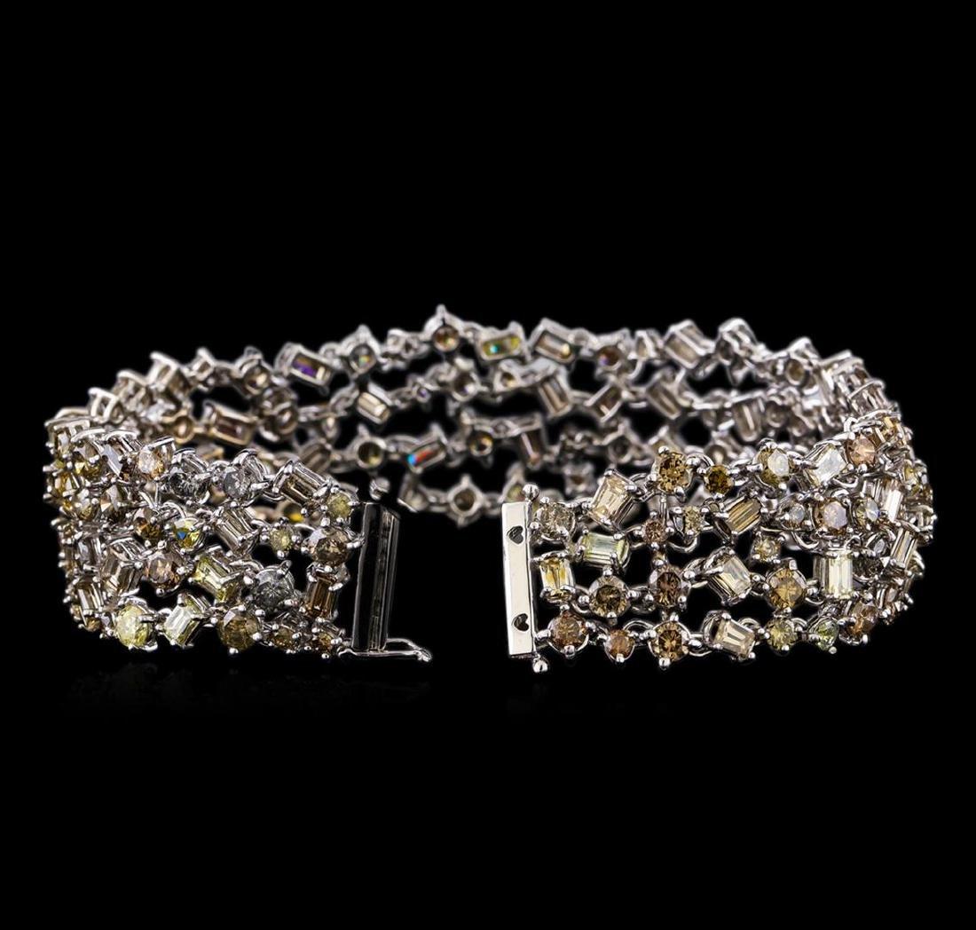 20.40 ctw Diamond Bracelet - 18KT White Gold - 3