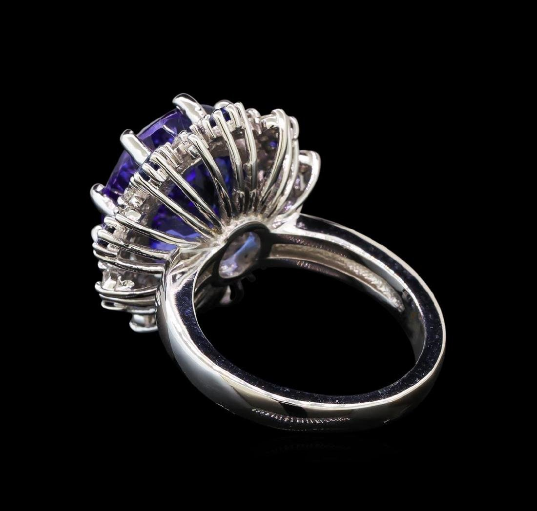 14KT White Gold 9.22 ctw Tanzanite, Sapphire and - 3