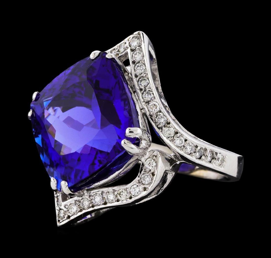 GIA Cert 23.29 ctw Tanzanite and Diamond Ring - 14KT