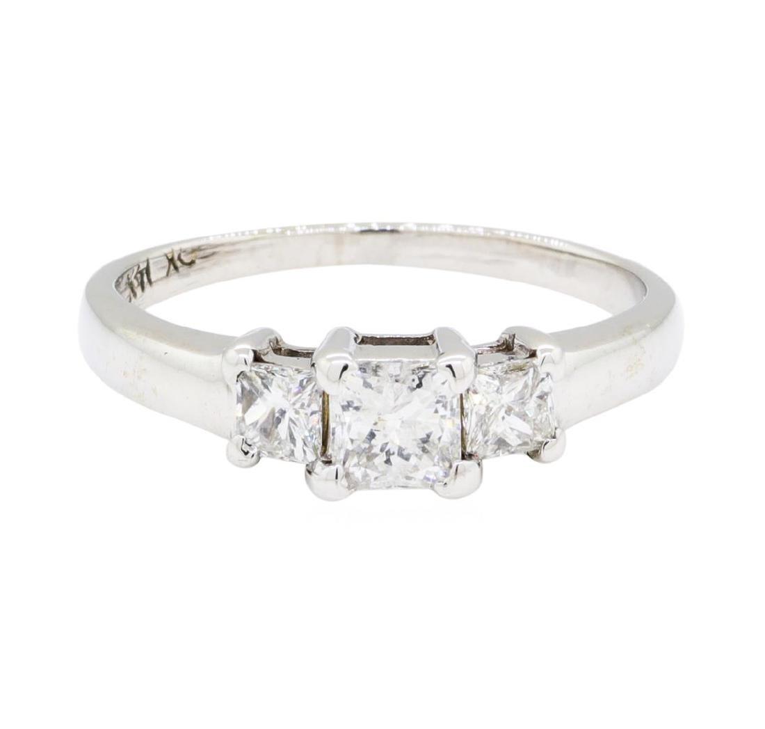 0.50 ctw Diamond Ring - 14KT White Gold - 3
