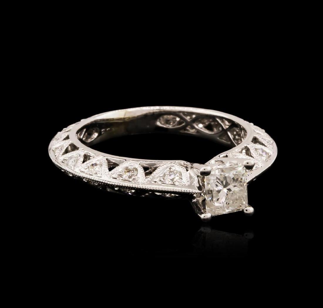 14KT White Gold 0.91 ctw Diamond Ring - 2