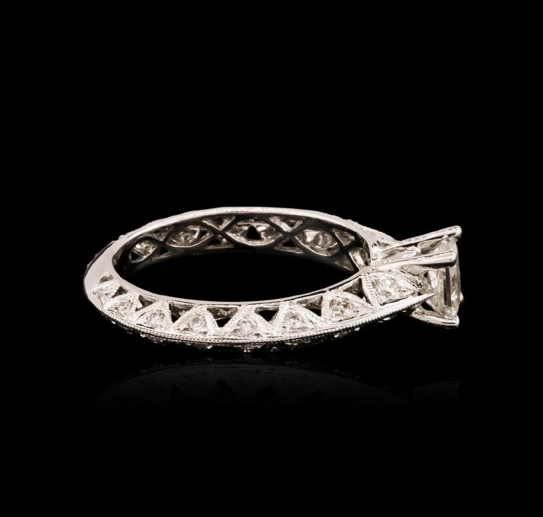 14KT White Gold 0.91 ctw Diamond Ring - 3