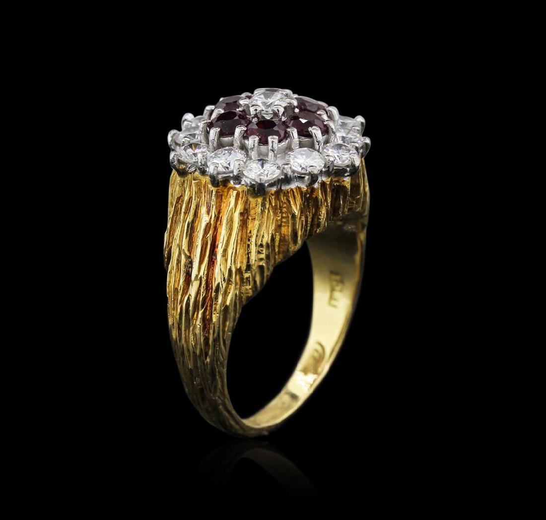 18KT Yellow Gold 1.26 ctw Ruby and Diamond Ring - 3
