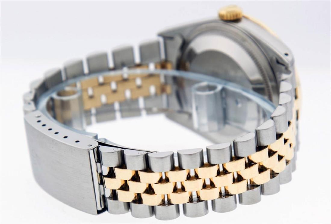 Rolex Mens 2 Tone 14K Black String VS Diamond Datejust - 7