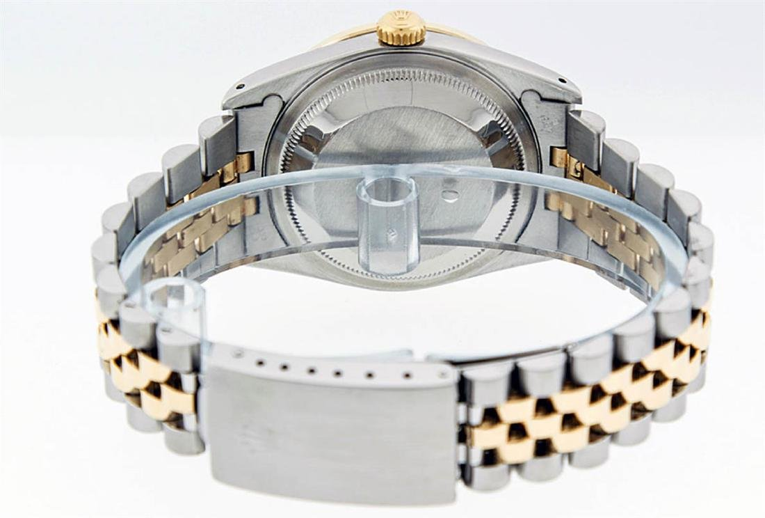 Rolex Mens 2 Tone 14K Black String VS Diamond Datejust - 8